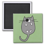Cute Halloween Cat Costume Square Magnet