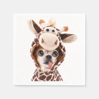 Cute Halloween Chihuahua Paper Napkins