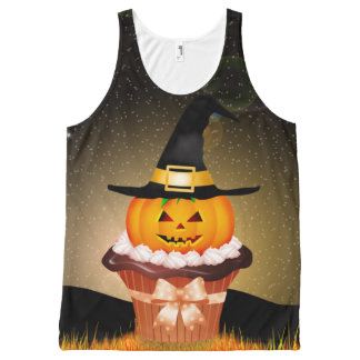 Cute Halloween Cupcake All-Over Print Tank Top