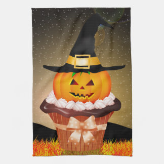 Cute Halloween Cupcake Kitchen Towel