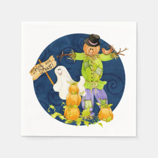 Cute Halloween for Kids Scarecrow Pumpkin Ghost Napkin
