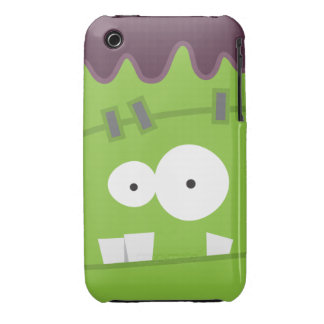 Cute Halloween Frankenstein Monster Face iPhone 3 Cover