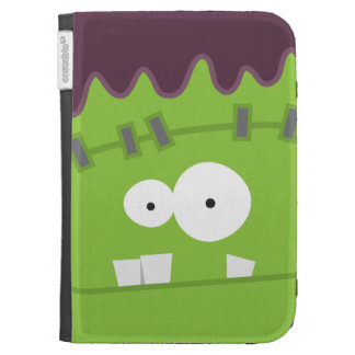 Cute Halloween Frankenstein Monster Face Kindle Covers