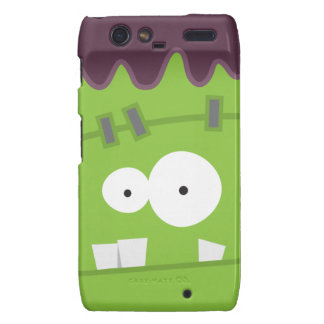 Cute Halloween Frankenstein Monster Face Motorola Droid RAZR Cases