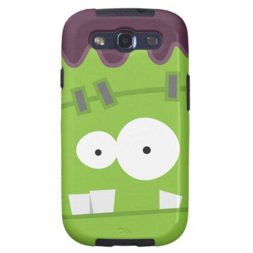 Cute Halloween Frankenstein Monster Face Samsung Galaxy SIII Covers