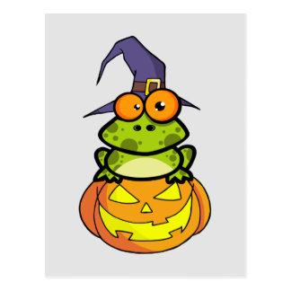 Cute Halloween Frog Postcard