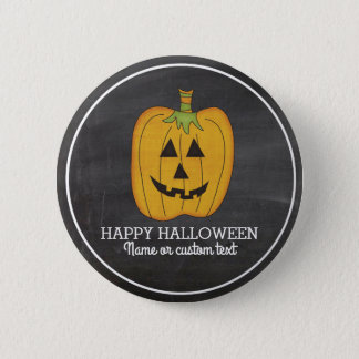 Cute Halloween Funny Pumpkin Jack O Lantern Custom 2 Inch Round Button