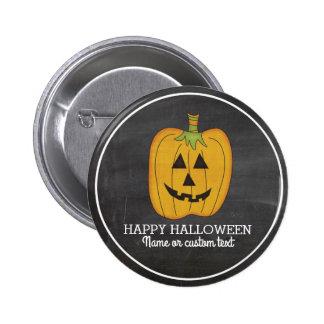 Cute Halloween Funny Pumpkin Jack O Lantern Custom 2 Inch Round Button
