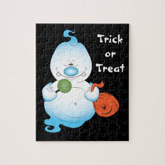 Cute Halloween Ghost Cartoon Puzzles