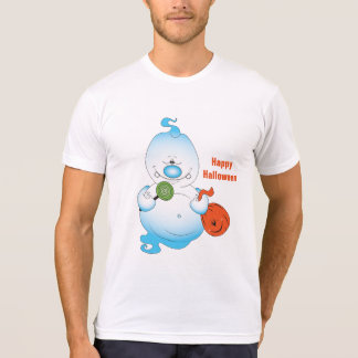 Cute Halloween Ghost Cartoon T-Shirt
