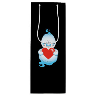 Cute Halloween Ghost Cartoon Wine Gift Bag