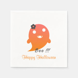 Cute Halloween Ghost Paper Napkins