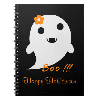 Cute Halloween Ghost Spiral Notebook