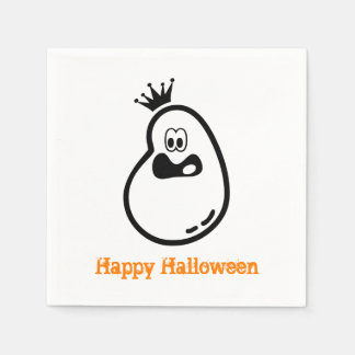 Cute Halloween Ghost with crown Paper Napkins
