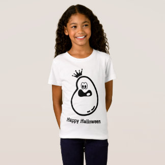Cute Halloween Ghost with crown T-Shirt