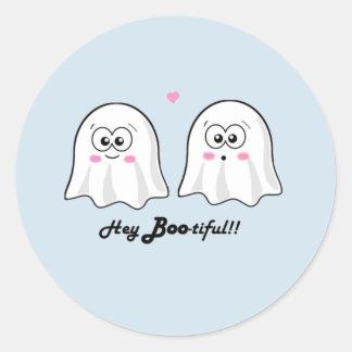Cute Halloween 'Hey Boo-tiful' Sticker
