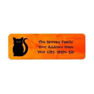 Cute Halloween kitty Return Address Label