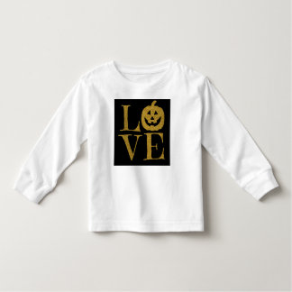 Cute Halloween LOVE, w Gold Glitter Letters Toddler T-shirt