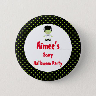Cute Halloween Monster Girl Halloween Party 2 Inch Round Button
