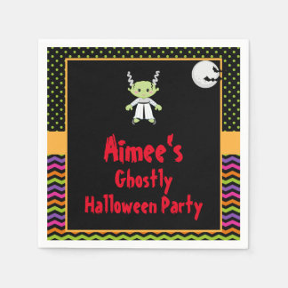 Cute Halloween Monster Girl Halloween Party Disposable Napkins
