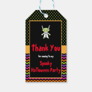 Cute Halloween Monster Girl Halloween Party Gift Tags