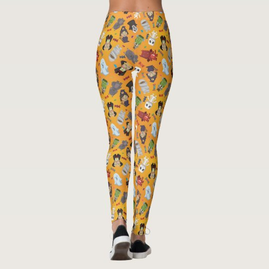 Cute Halloween Monsters Pattern Leggings