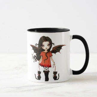 Cute Halloween Mug Little Vampire with Cats