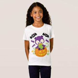 Cute Halloween Owl And Bats T-Shirt
