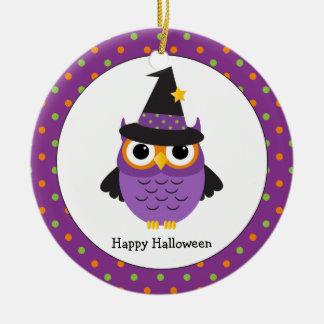 Cute Halloween Owl Personalized Kids Ornament
