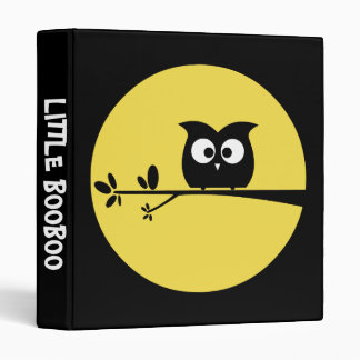 Cute Halloween Owl with customised Moon colours Binders