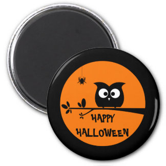 Cute Halloween Owl with customised Moon colours Magnet