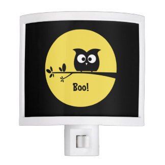 Cute Halloween Owl with customised Moon colours Night Light