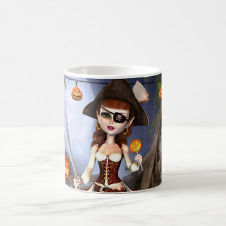 Cute Halloween Pirate Girl Mug