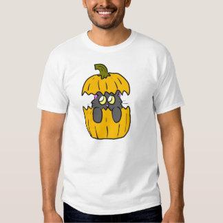 cute halloween pumpkin cat tee shirts