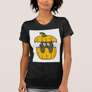cute halloween pumpkin kitten shirt