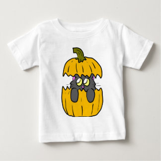 cute halloween pumpkin kitten t-shirt