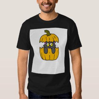 cute halloween pumpkin kitten tshirts