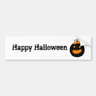 Cute Halloween pumpkin with bow Bumper Sticker