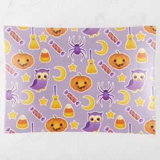 Cute Halloween Pumpkins Owls Spiders Stars Pattern Trinket Trays