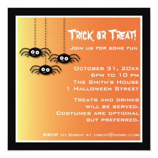 Cute Halloween Spiders Invitation