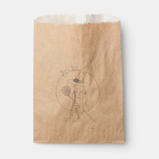 Cute Halloween Witch Favour Bag