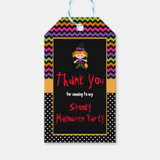 Cute Halloween Witch Girl Halloween Party Gift Tags