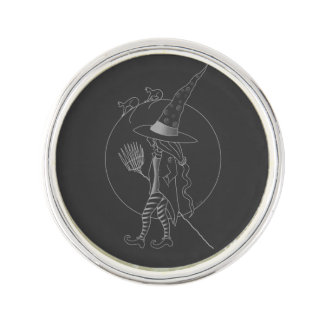 Cute Halloween Witch Lapel Pin
