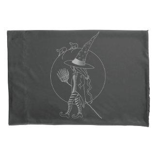 Cute Halloween Witch Pillowcase
