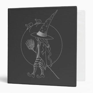 Cute Halloween Witch Vinyl Binders