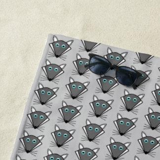 Cute Halloween Wolf Beach Towel