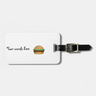 Cute hamburger luggage tag