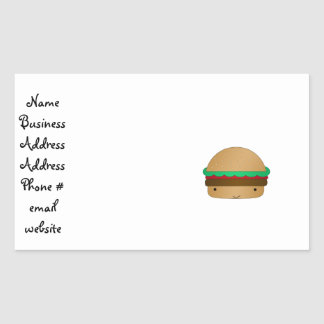 Cute hamburger sticker