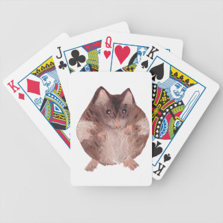 Cute Hamster Bicycle Playing Cards