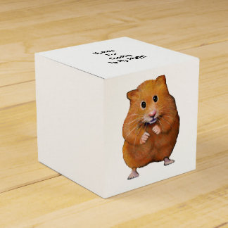 Cute Hamster, Original Drawing, Party Thanks Favor Box